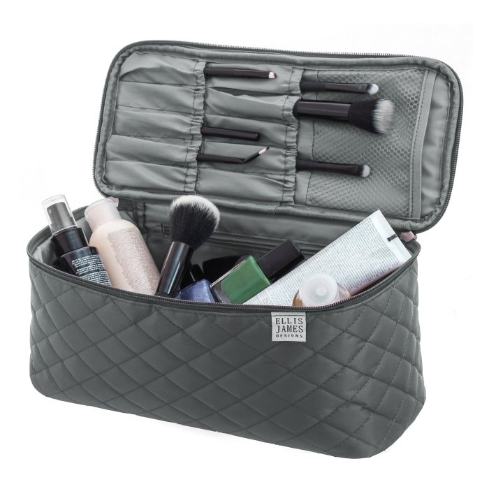 b12118d2767b3 Grey Large Cosmetic Organizer