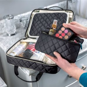 Black Hanging Toiletry Organizer