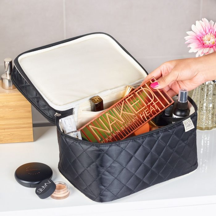 Black Tall Cosmetic Bag