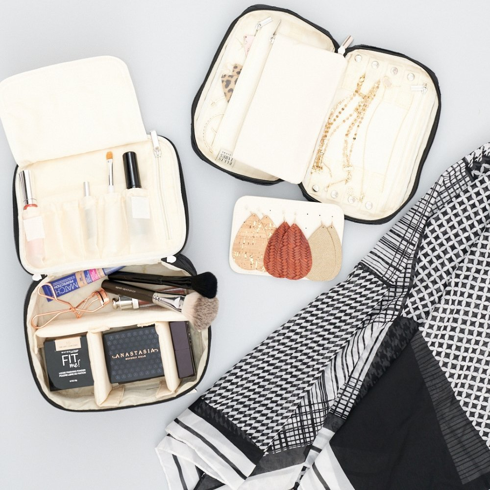 Mini Makeup Train Case and Travel Jewelry Keeper Jamie - Ellis James Designs Family Babes