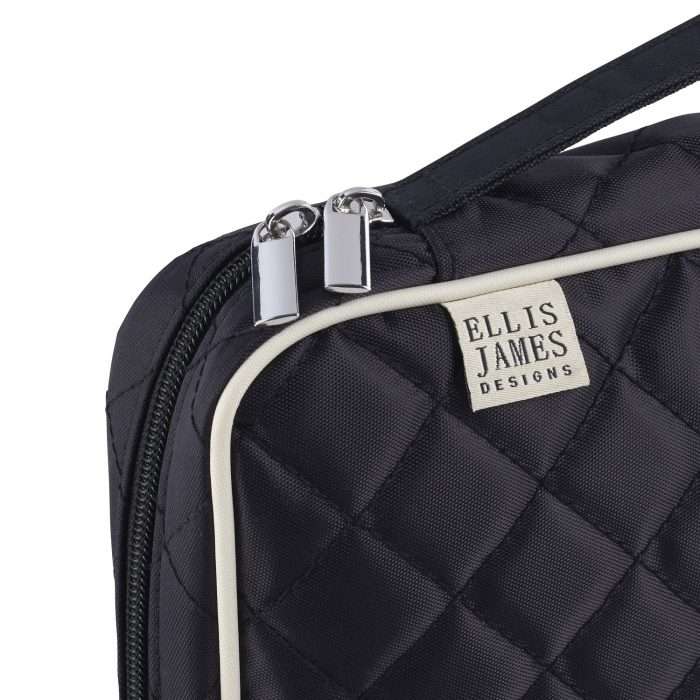 Ellis James Makeup Brush Bag made with the highest quality materials and zippers