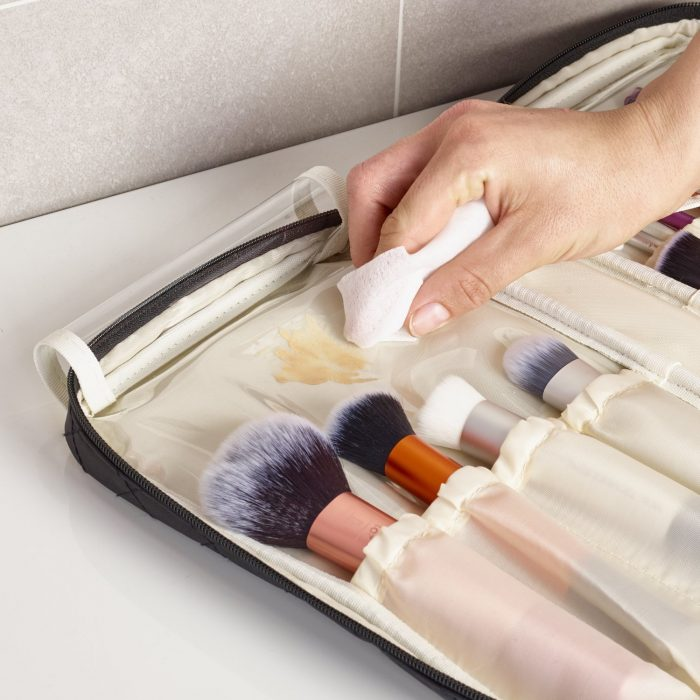 Ellis James Makeup Brush bag with wipe clean interior