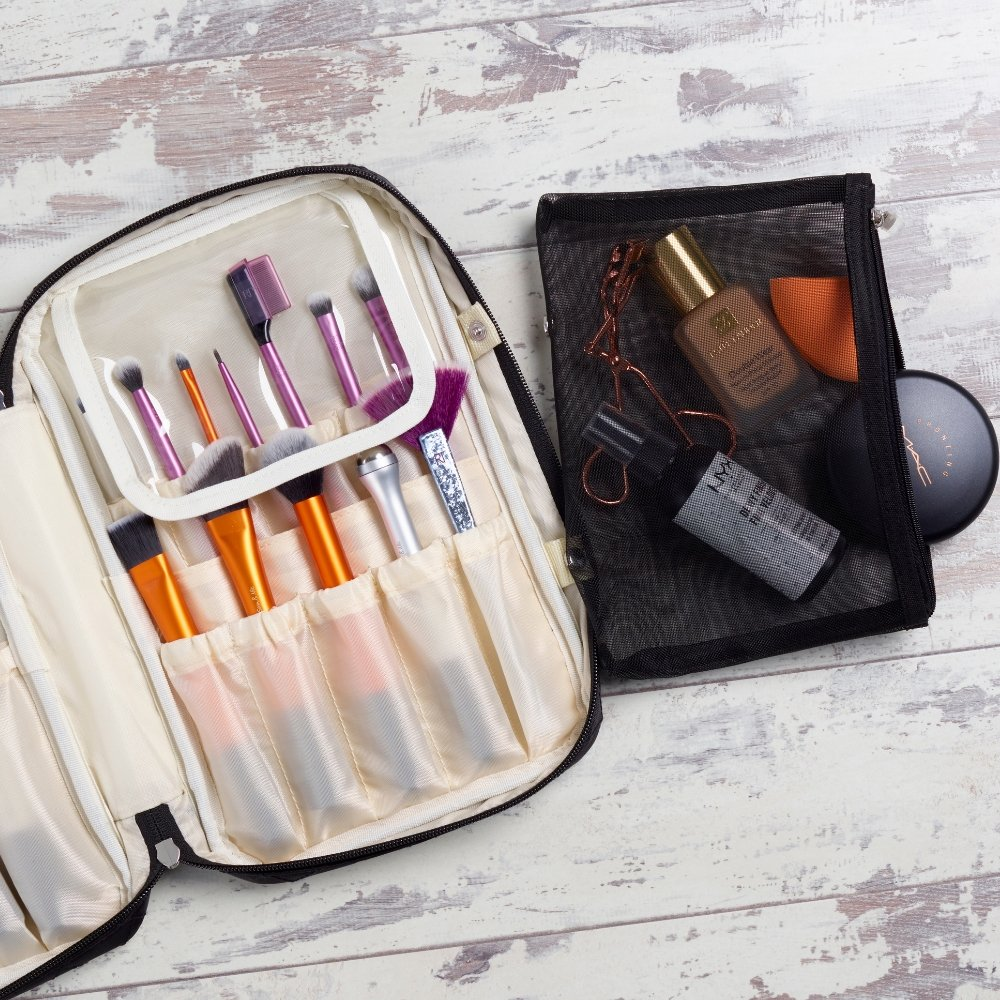 How to Pack Makeup Brushes - Ellis James Designs
