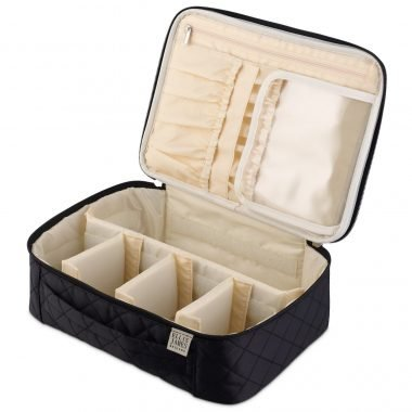Black Makeup Train Case