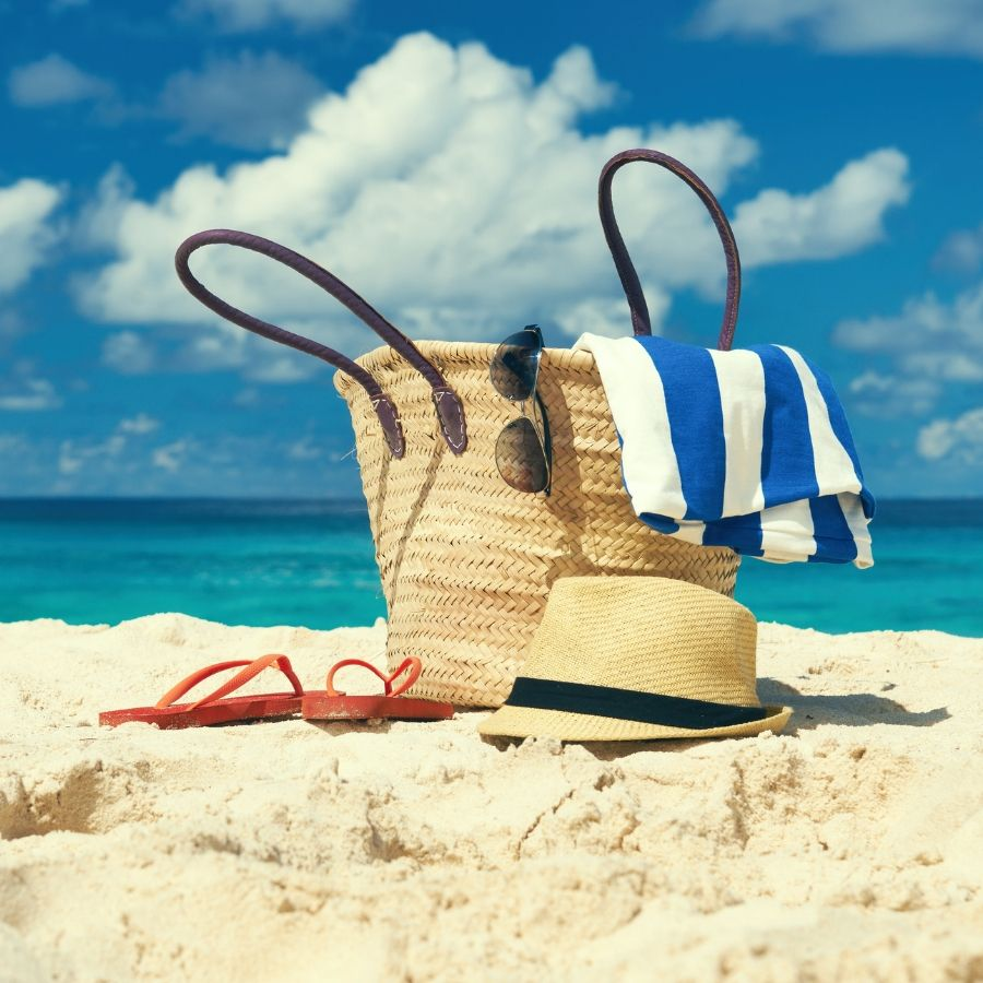 What do you bring to an exciting short beach trip?