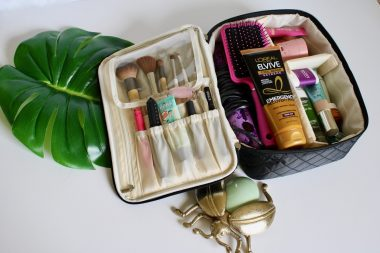 Camila Unfolded Bloom | Ellis James Designs Makeup Train Case