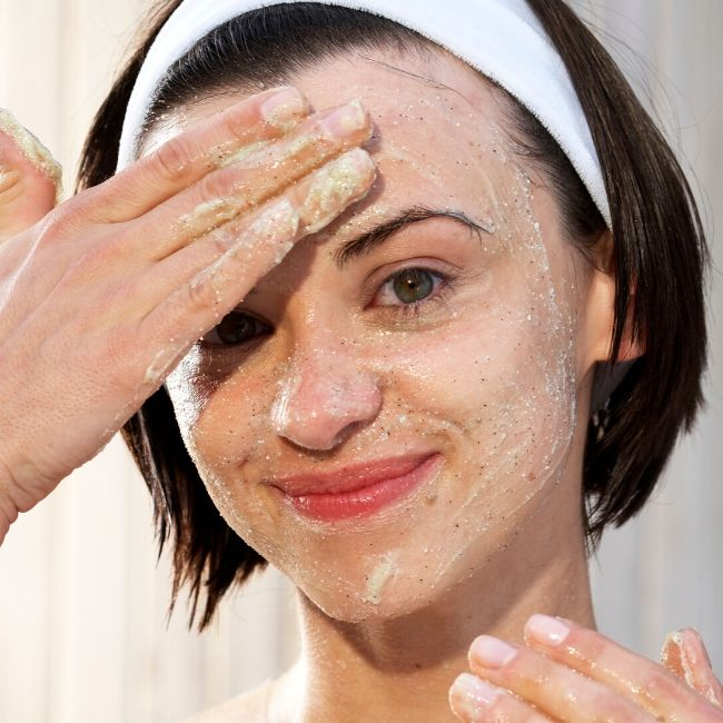 exfoliating dry skin at home