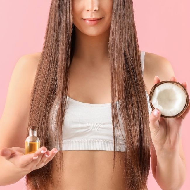 coconut oil before hair dye